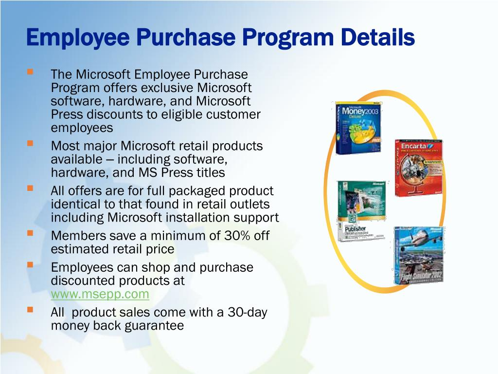 Employee Purchase Program Details