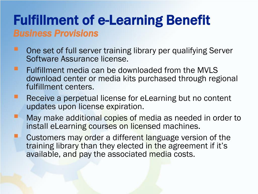Fulfillment of e-Learning Benefit
