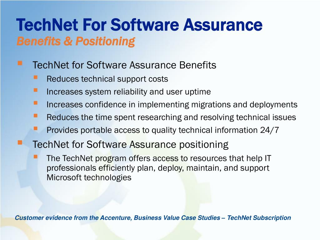 TechNet For Software Assurance