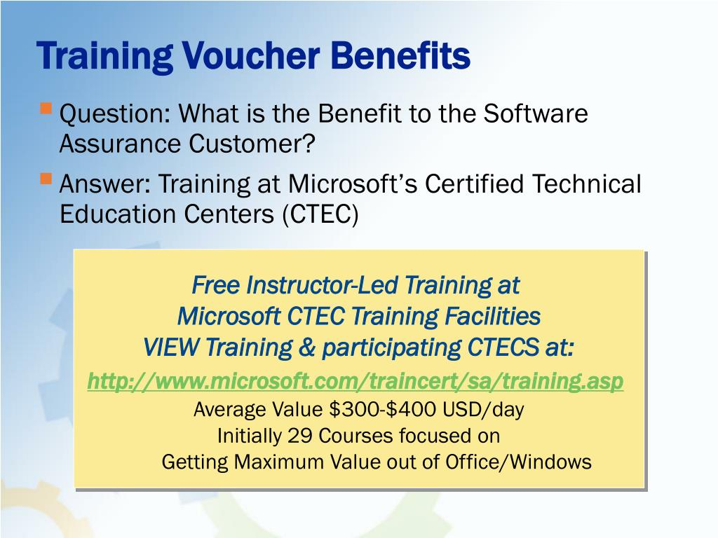 Training Voucher Benefits