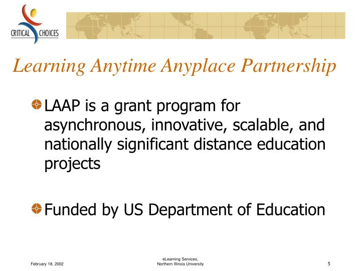 Learning Anytime Anyplace Partnership
