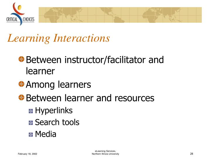 Learning Interactions