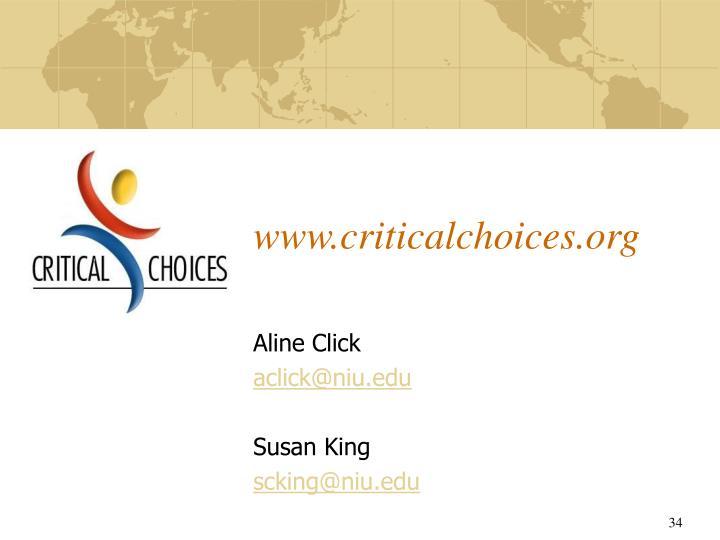 www.criticalchoices.org