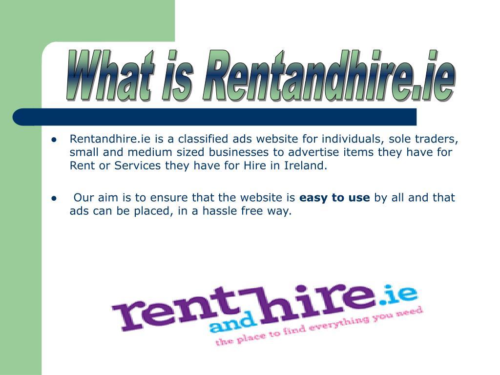 What is Rentandhire.ie