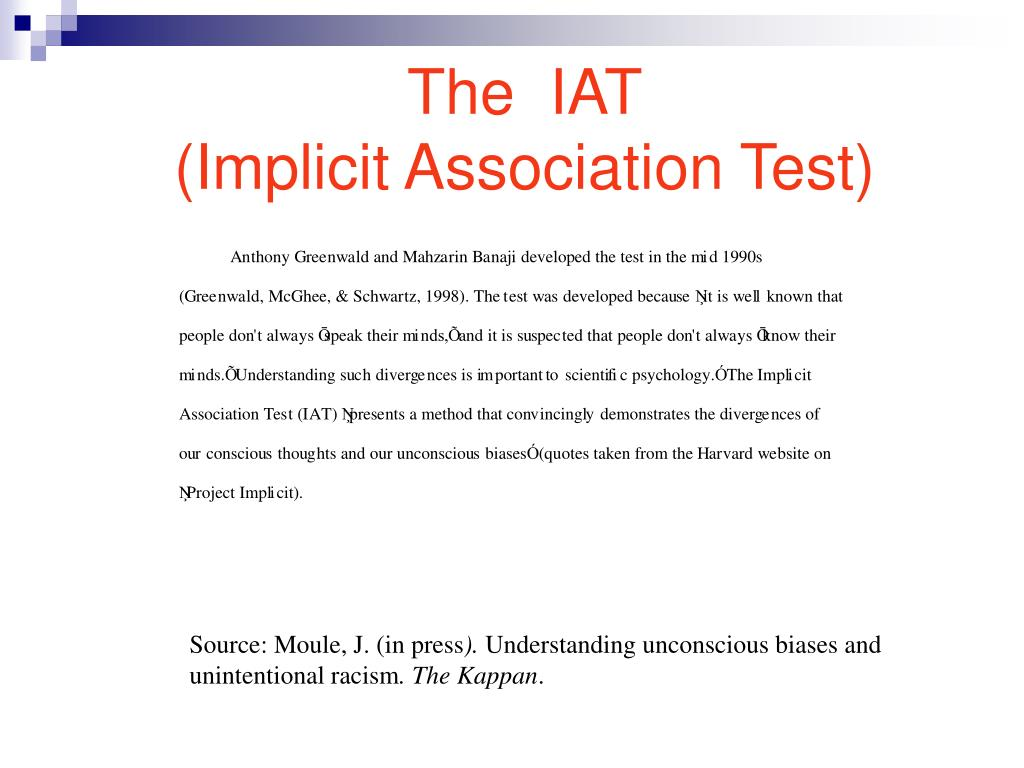 The  IAT