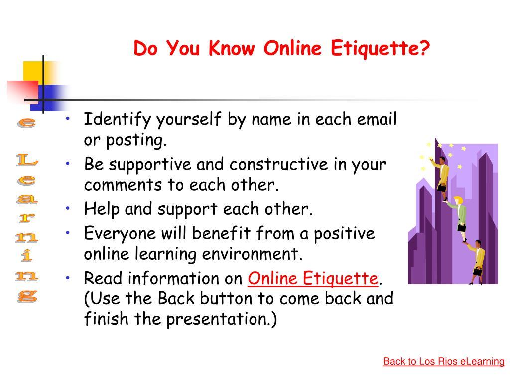 Do You Know Online Etiquette?