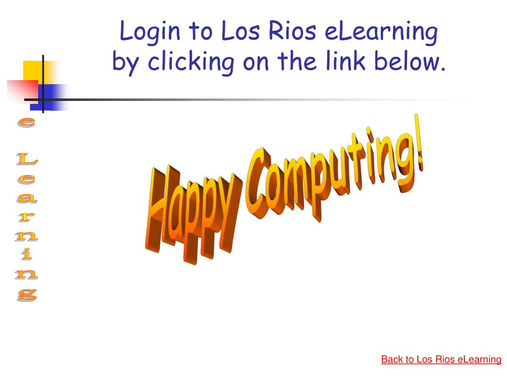Login to Los Rios eLearning