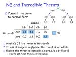 ne and incredible threats