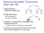 removing incredible threats and other poor ne