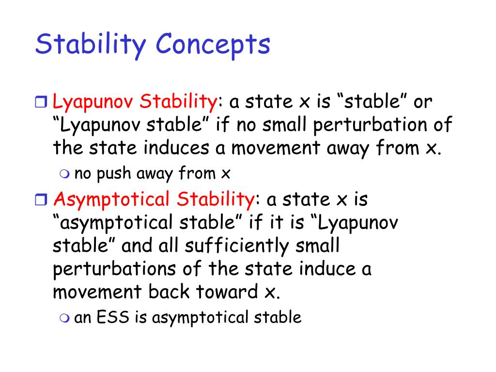 Stability Concepts
