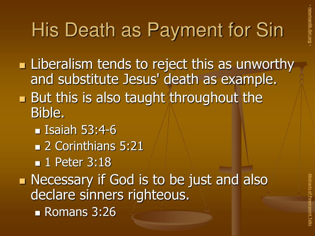 His Death as Payment for Sin