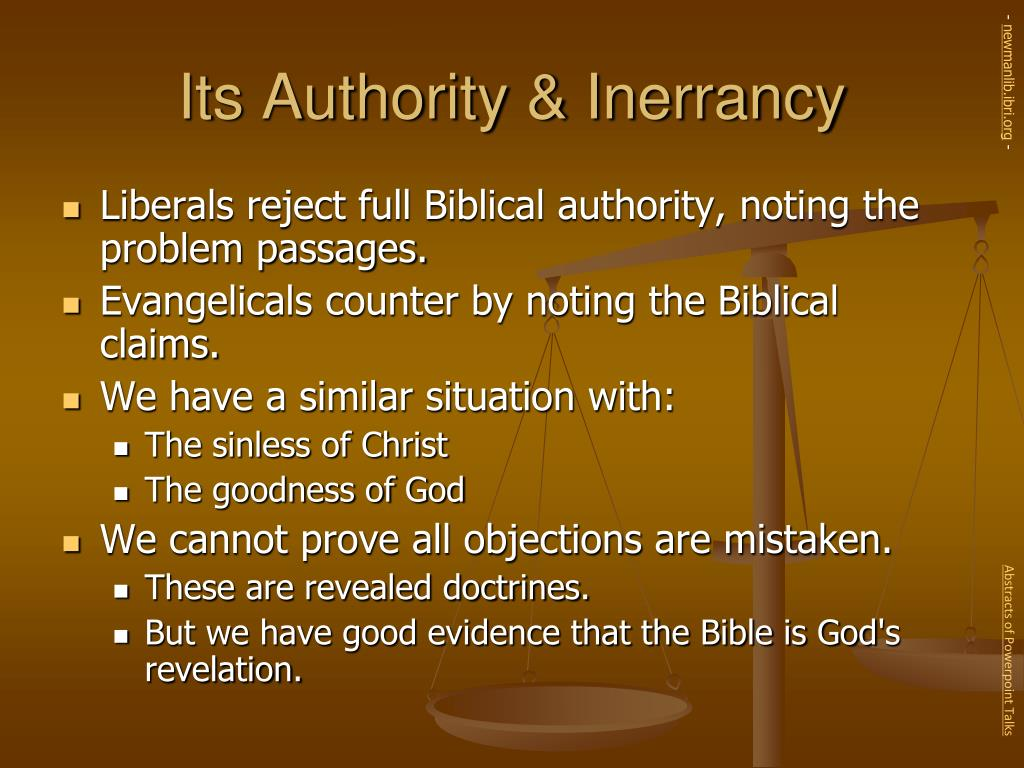 Its Authority & Inerrancy