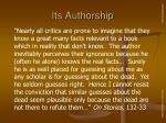 its authorship8