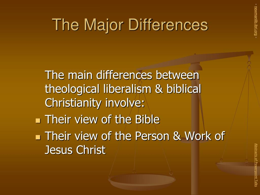 The Major Differences