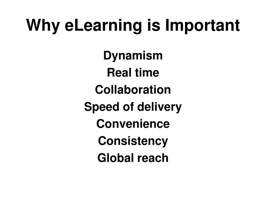 Why eLearning is Important