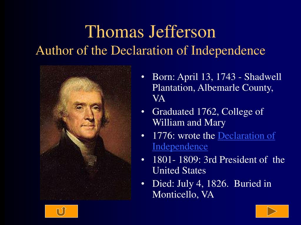 an analysis of declaration of independence by thomas jefferson Tell the students that they will be learning what thomas jefferson wrote in 1776 that served to announce that the students will be analyzing the first part of the text today and that they will be learning how to do in-depth analysis for can the declaration of independence be.