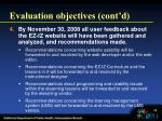 evaluation objectives cont d10