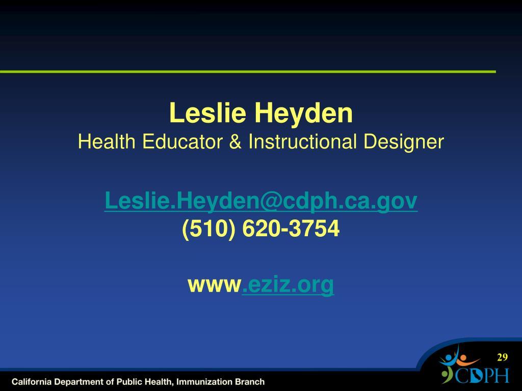 Leslie Heyden