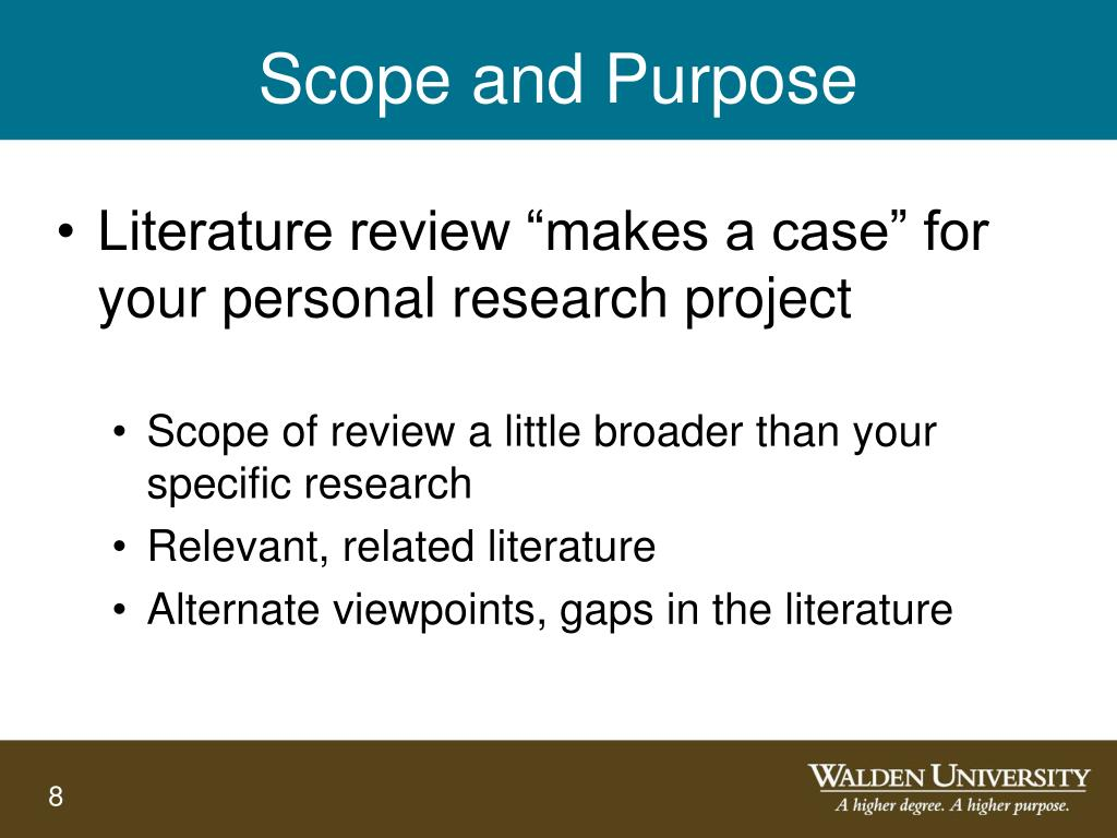 scope literature review research