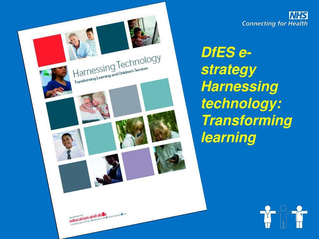 DfES e-strategy