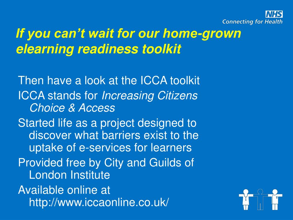 If you can't wait for our home-grown elearning readiness toolkit