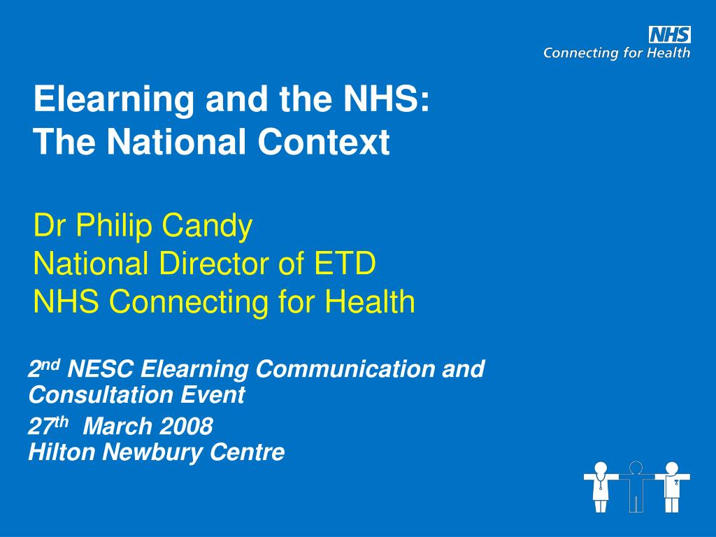 Elearning and the NHS:
