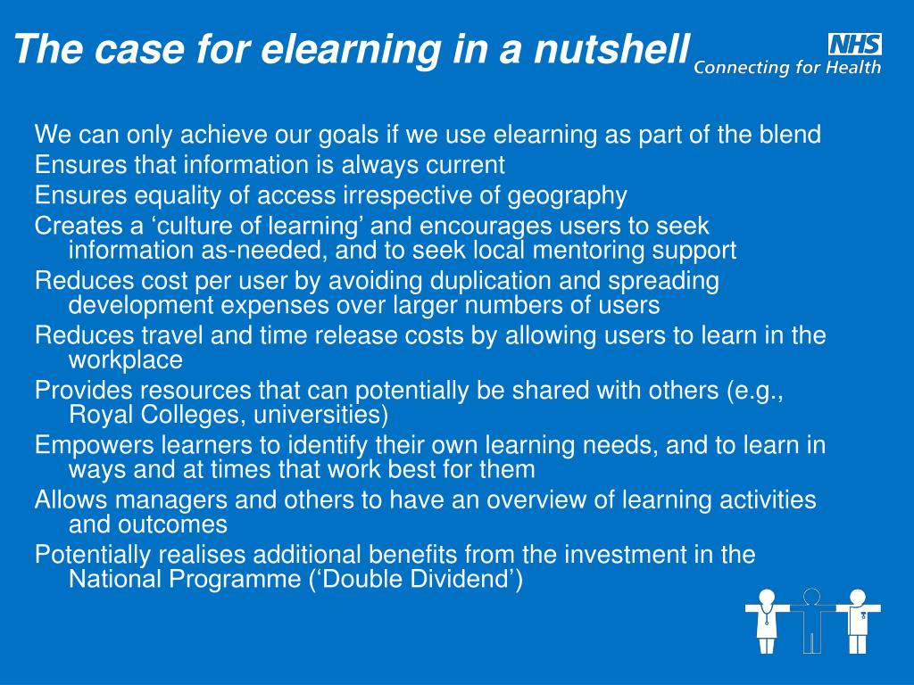 The case for elearning in a nutshell