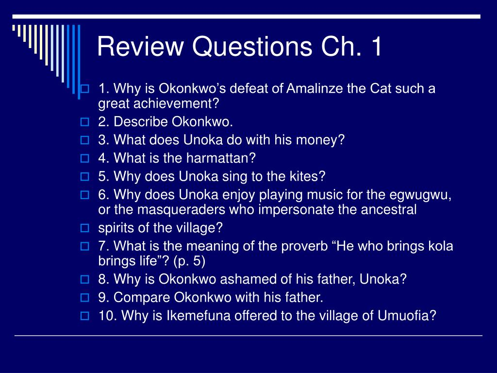 Review Questions Ch. 1