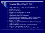 review questions ch 1