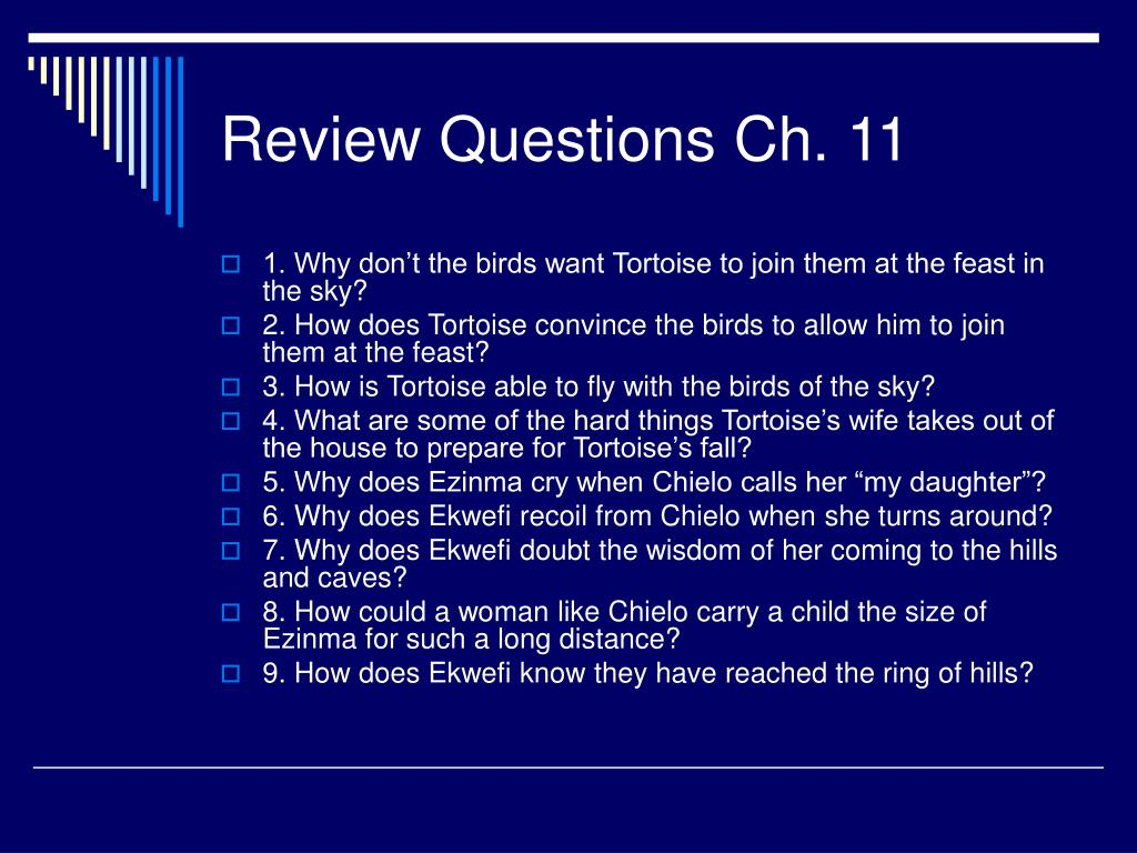 Review Questions Ch. 11