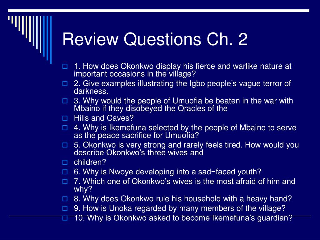 Review Questions Ch. 2