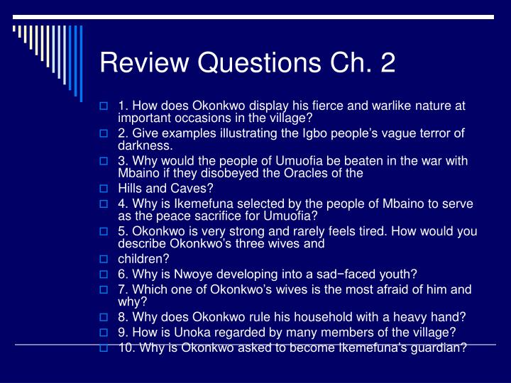 Review questions ch 2