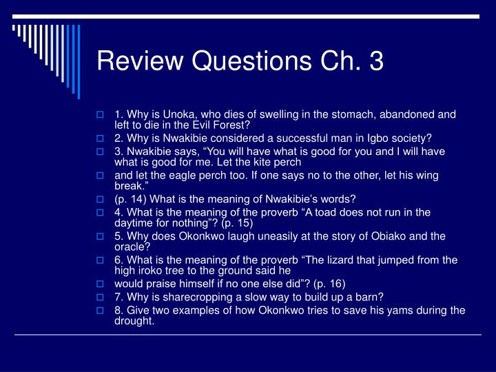 Review questions ch 3