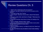 review questions ch 5