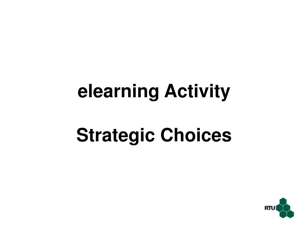 elearning Activity