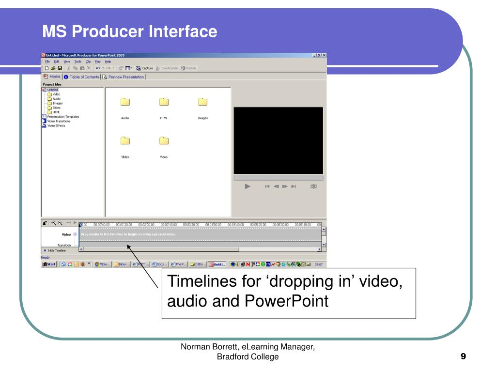 MS Producer Interface