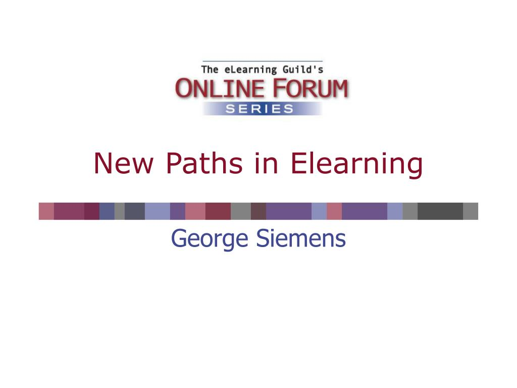 new paths in elearning