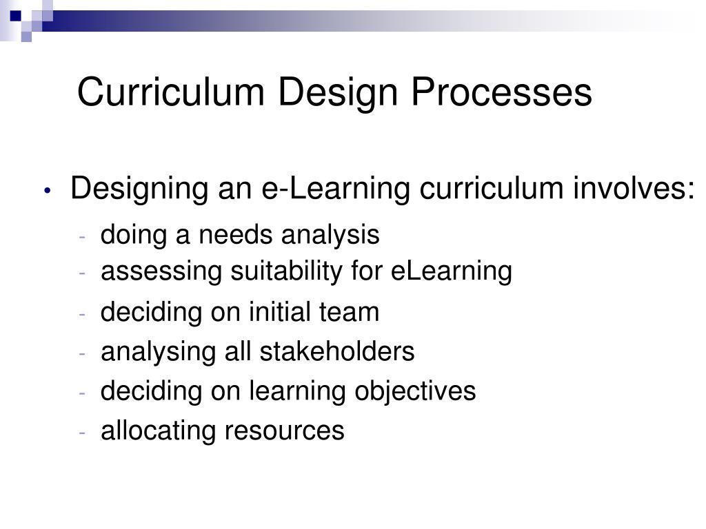 Curriculum Design Processes