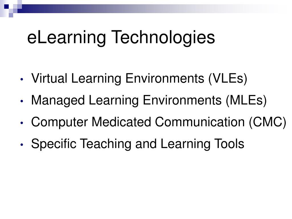 eLearning Technologies