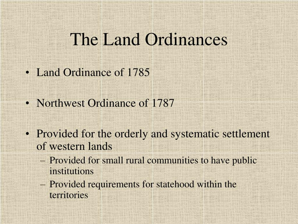 The Land Ordinances