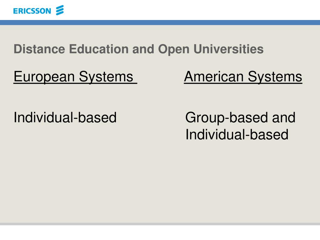 Distance Education and Open Universities