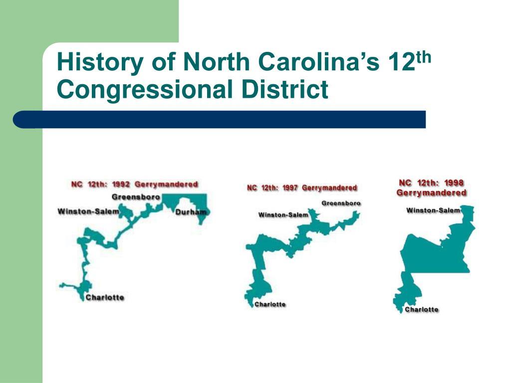 History of North Carolina's 12