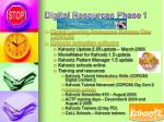 digital resources phase 1