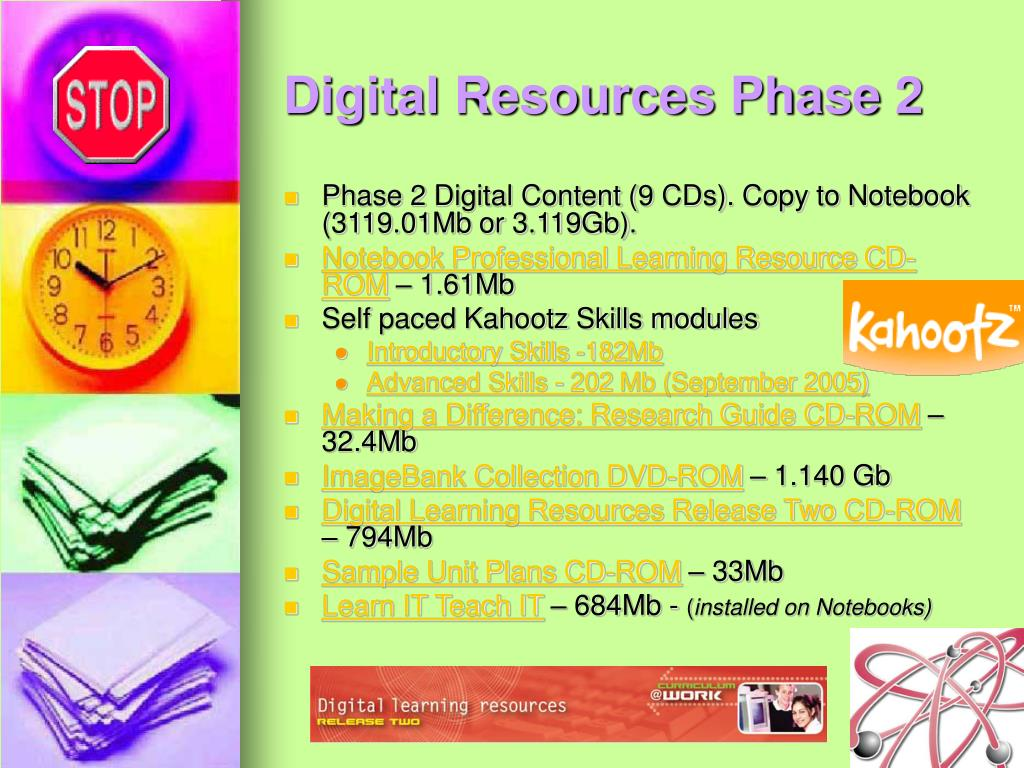 Digital Resources Phase 2