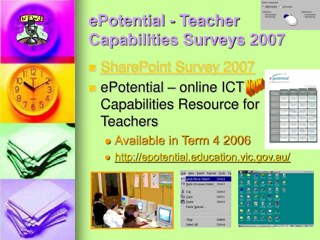 ePotential - Teacher Capabilities Surveys 2007
