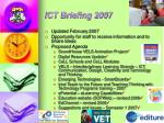 ict briefing 2007