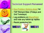 technical support personnel