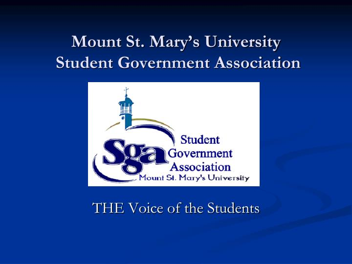 Mount st mary s university student government association l.jpg