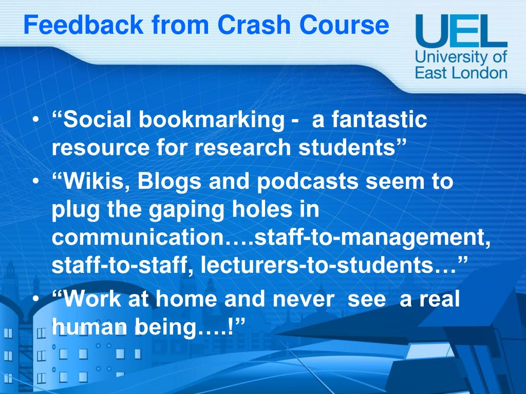 Feedback from Crash Course