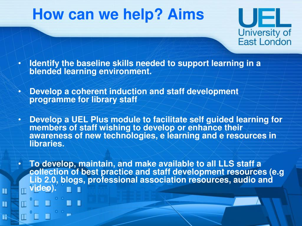 How can we help? Aims